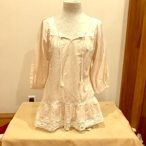 NWT H & M light pink and white lace cover-up, 4